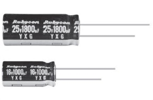 Picture of Aluminum Electrolytic Capacitor Rubycon YXG Series